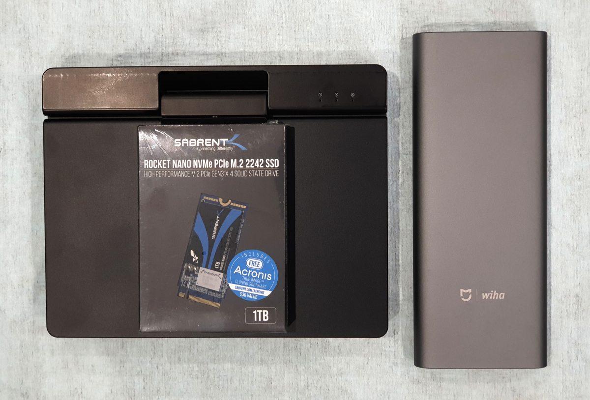 Sabrent Rocket NVME SSD inside One-Netbook A1